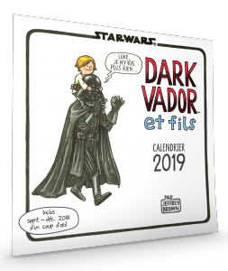 Star Wars par Jeffrey Brown : Calendrier mural 2019