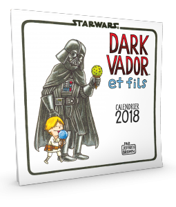Star Wars par Jeffrey Brown : Calendrier mural 2018
