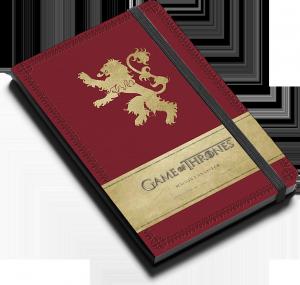 Game of Thrones : Maison Lannister : Carnet ligné avec pochette