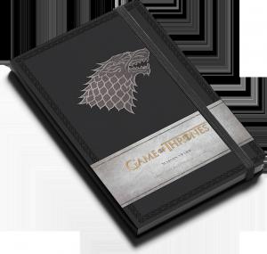 Game of Thrones : Maison Stark : Carnet ligné avec pochette