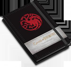 Game of Thrones : Maison Targaryen : Carnet ligné avec pochette